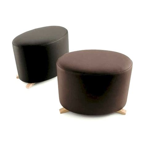 wooden ottoman legs round ottoman on wooden legs maxalto luxury furniture mr