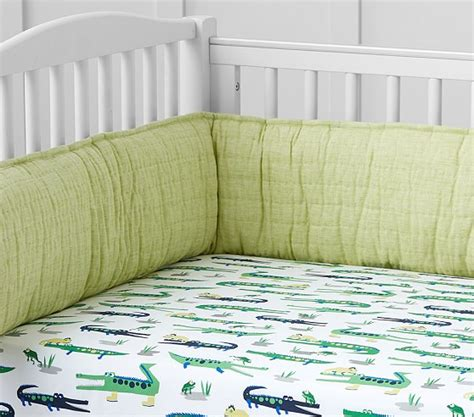 Alligator Crib Bedding Alligator Crib Fitted Sheet Pottery Barn