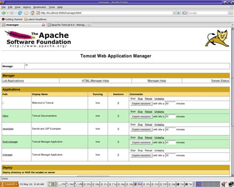 tomcat console 在 unix 中安装和配置开发 web 服务器