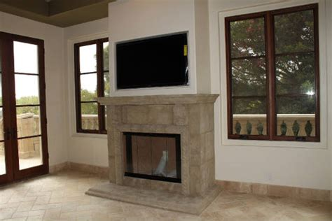 Tv Above Wood Burning Fireplace by Fireplaces