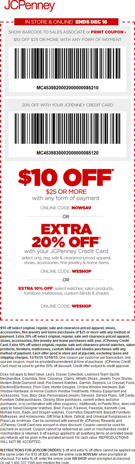 Jcpenney Printable Coupons June 2017