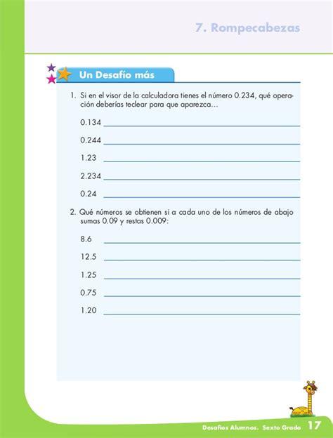 matematicas 6 grado contestado el equipo de caminata desafios matematicos 6 170 grado
