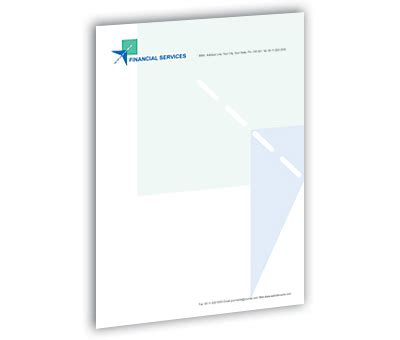 Financial Letterhead Letterhead Design For Financial Services Offset Or Digital Printing