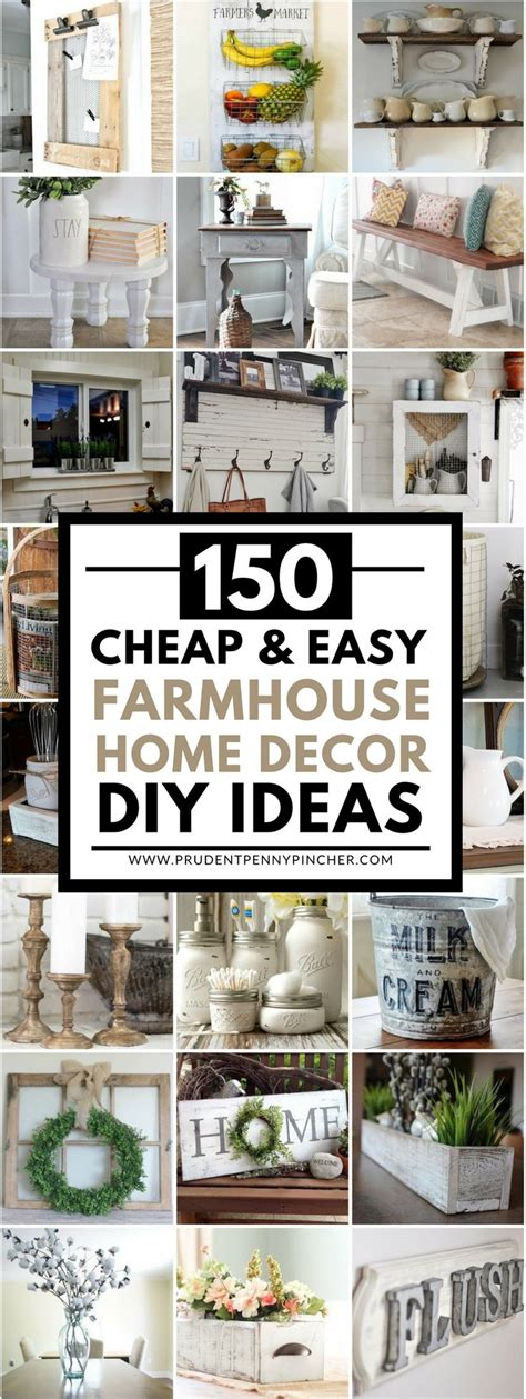 easy cheap home decor ideas 150 cheap and easy diy farmhouse style home decor ideas