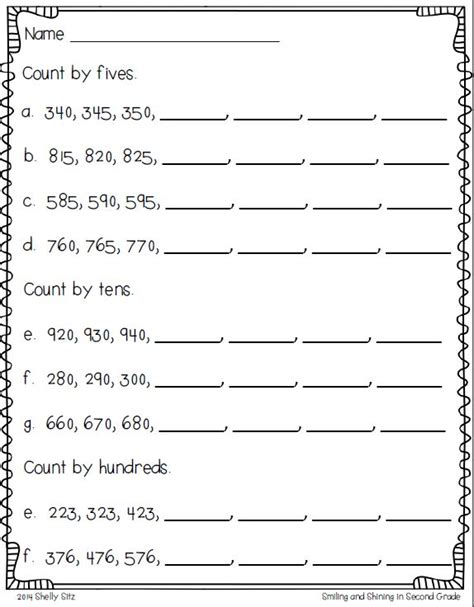 Skip Counting Worksheets 2nd Grade by Skip Counting Freebie Skip Counting By 5s 10s And 100s