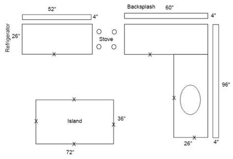 Kitchen Countertop Layout Tool How To Draw A Layout Of Kitchen Countertops