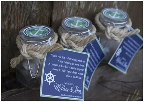 nautical themed gifts blue green nautical wedding shower pizzazzerie