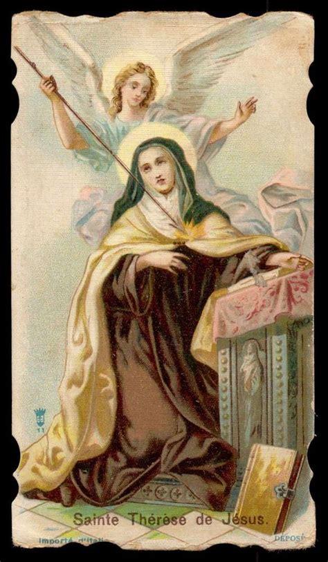 catholic cards st teresa of avila holy card holy cards
