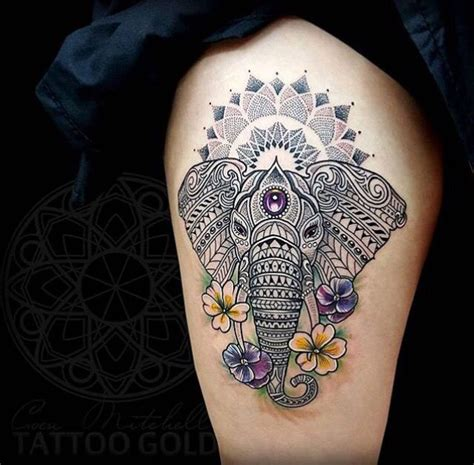 elephant mandala tattoo tattoos that interest me