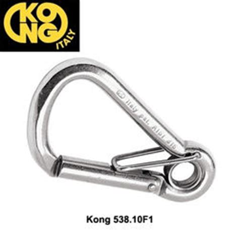 Stainless Stell Snap Carabiner With Eye Carabiner Diving kong 538 stainless steel carabiners with captive eye