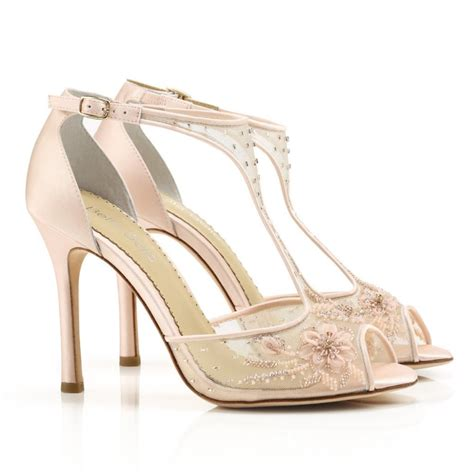 Blush Pink Bridal Shoes by Wedding Shoes Blush Pink Wedding Shoes