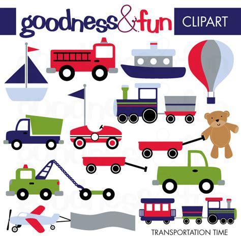 Free Transportation Clipart buy 2 get 1 free transportation time clipart digital