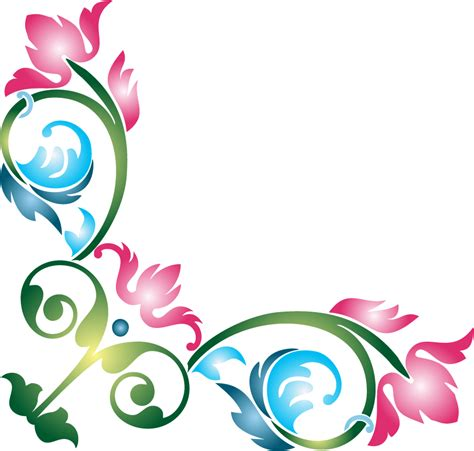 set5 hand drawn floral corners vol 1 hd walls find wallpapers flower images hd png format impremedia net