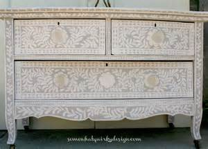 somewhat painted inlay dresser