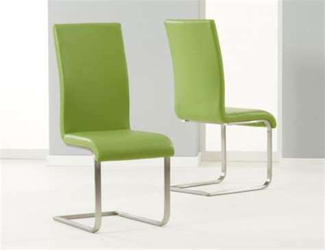 Green Leather Dining Room Chairs Monterey Green Faux Leather Dining Chairs