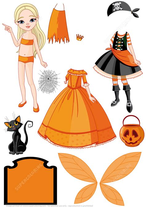 Paper Dolls Craft - costumes pirate princess and for a