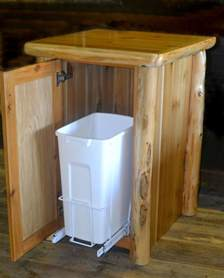 fascinating kitchen cabinet waste containers photos
