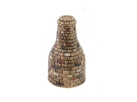 Burslem Pottery Hand Decorated Stoneware Bottle Kiln