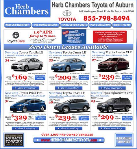 Herb Chambers Toyota Auburn Ma Herb Chambers Toyota Of Auburn Worcester Toyota Dealers