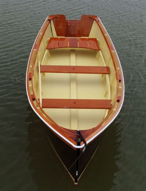 boat made of wood custom made 14 outboard skiff atkins design perahu