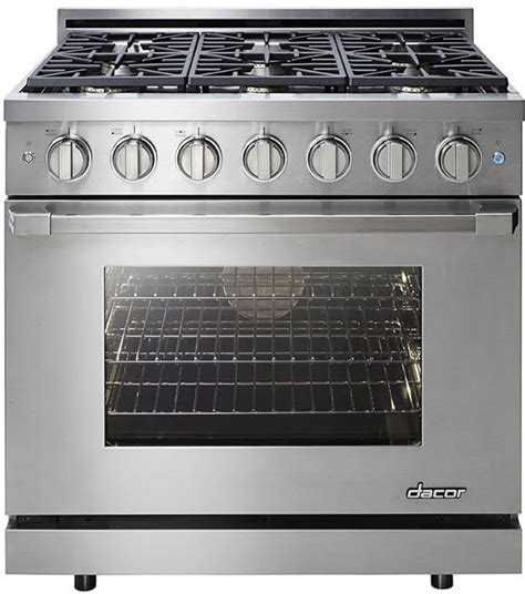 dacor 6 burner cooktop dacor rnrp36gsngh 36 inch freestanding gas range with 6