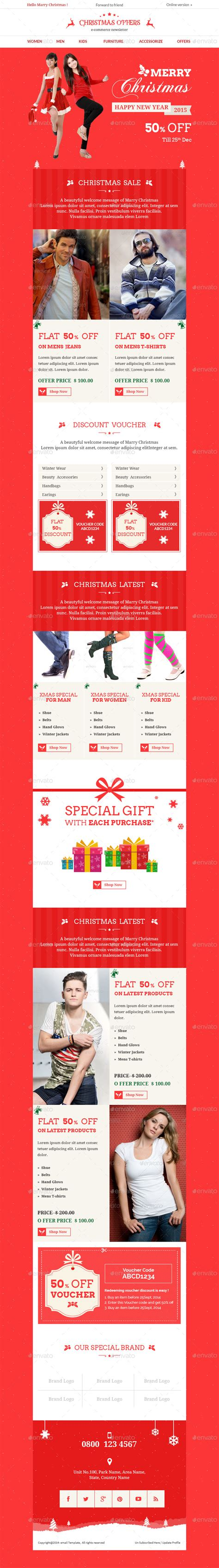 Christmas Offers E Commerce E Newsletter Psd Template By Aksharthemes Special Offer Email Template