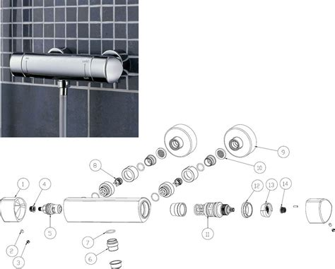 Bristan Bath Shower Mixer Thermostatic bristan fusion thermostatic surface mounted bar shower