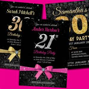 personalised birthday invitations invites 18th 21st 30th 40th 50th ebay