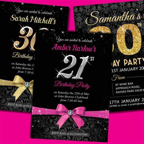 free 21st birthday invitations templates personalised birthday invitations invites 18th