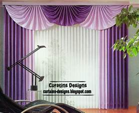 Curtain Valance Styles Ideas Modern Purple Curtain Design Ideas For Bedroom Interior