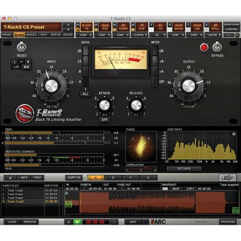 T Racks Black 76 by Ik Multimedia T Racks Grand Mixing And Mastering Tr 400