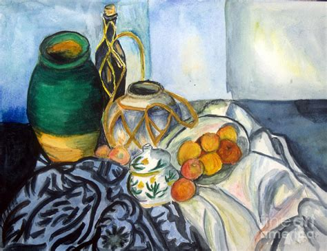 interpreting cezanne cezanne still life with apples in watercolor painting by donna walsh