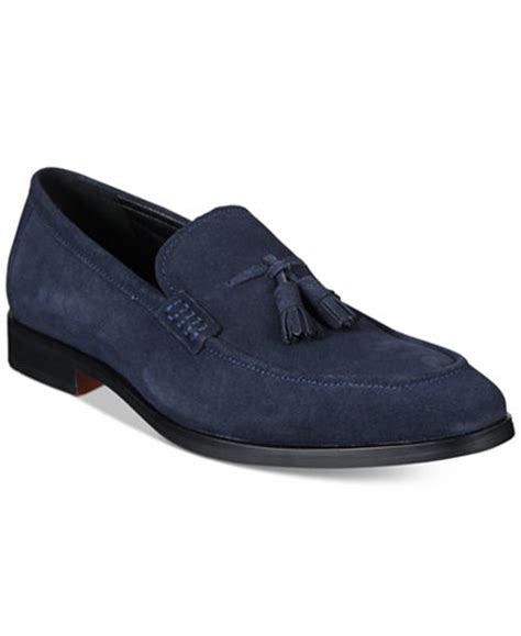 macy s basketball shoes alfani s declan suede tassel loafers only at macy s