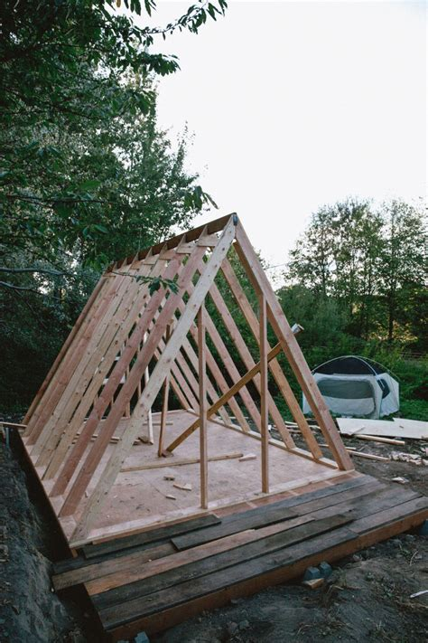 building a frame house uo journal how to build an a frame cabin urban
