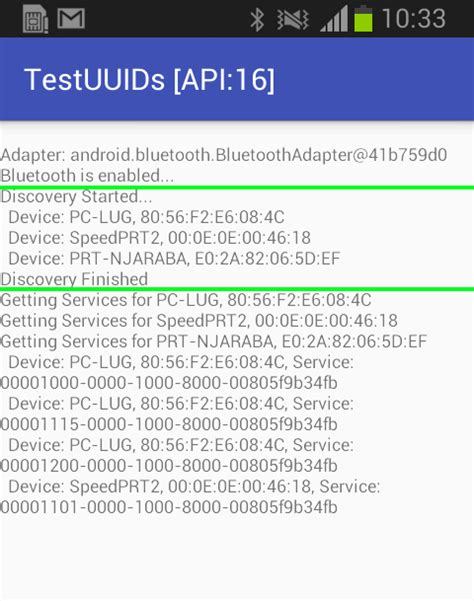android uuid android marshmallow api 23 bluetooth uuid returns null