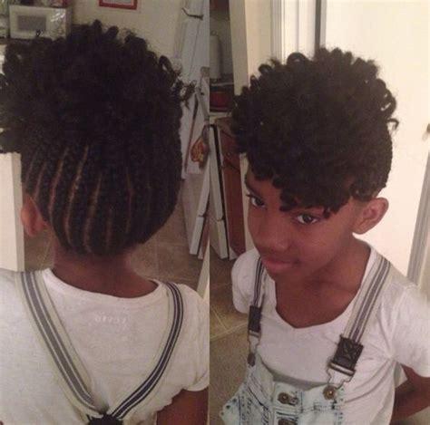 kids crochet hair styles fohawk crochet braid style for kids protective styles