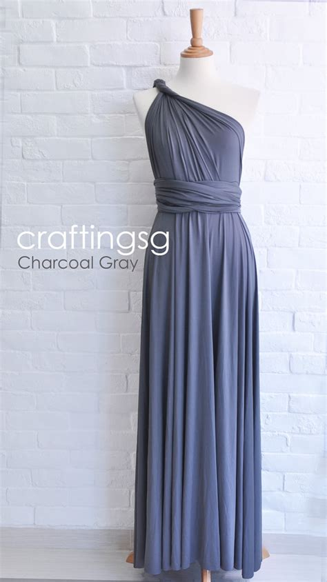gray infinity dress bridesmaid dress infinity dress charcoal grey by