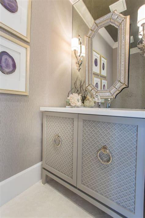 elegant gray powder room hgtv