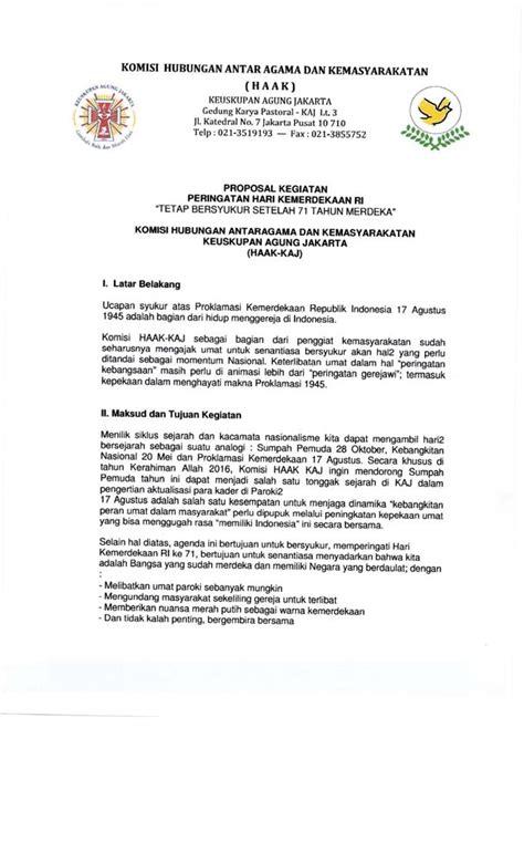 surat himbauan resmi perayaan wajib ekaristi dan upacara