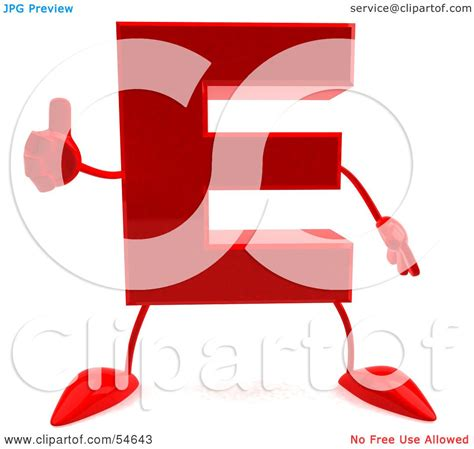up letter with leg royalty free rf clipart illustration of a 3d letter