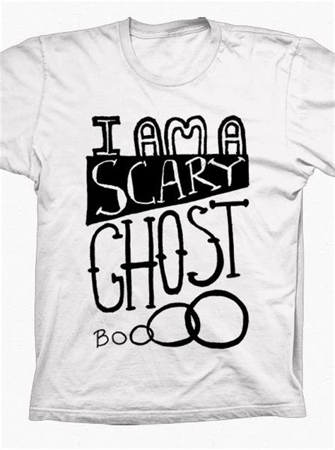Tshirt Scary Ghost Baam scary ghost t shirt a positively spook tacular t shirt