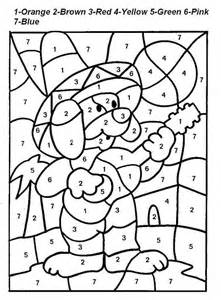 easy color by number easy color by number az coloring pages