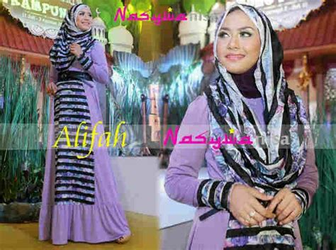 Alifah Syar I alifah by nasywannisa lavender baju muslim gamis modern
