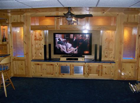 Nice Ceiling Light Fan With Built In Wooden Tv Cabinets