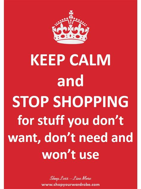 1 keep calm and stop shopping for my year without
