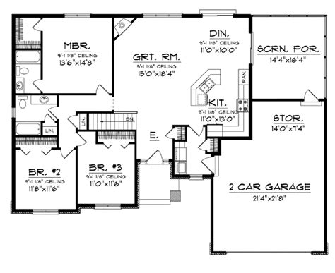 one floor open concept house plans an open concept floor plan hwbdo76173 craftsman house
