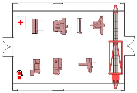 machine shop floor plans factory layout floor plan