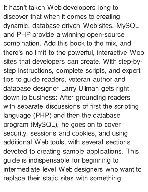 php and mysql for dynamic web visual quickpro guide 5th edition books php and my sql for dynamic web visual quickpro guide