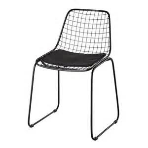 chaise en m 233 tal noir picpus maisons du monde