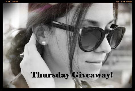 Thursday Giveaway - thursday giveaway